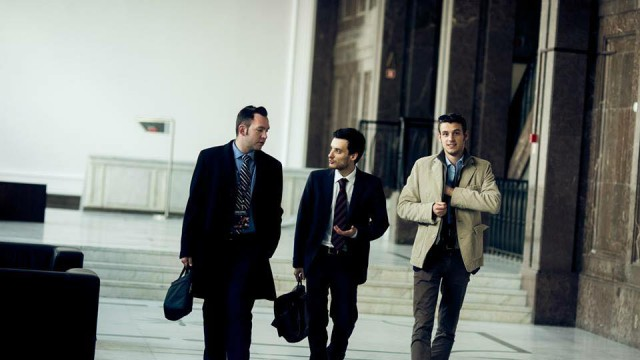 Giacomo Rossetto con Virgilio Falco e Francesco Castelli durante il Council Meeting di EDS in Varsavia (Polonia)